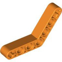 Orange Technic, Liftarm, Modified Bent Thick 1 x 7 (4 - 4) - used