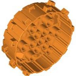 Orange Wheel Hard Plastic with Small Cleats