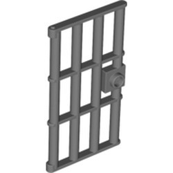 Pearl Dark Gray Door 1 x 4 x 6 Barred with Stud Handle