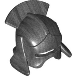 Pearl Dark Gray Minifigure, Headgear Helmet Castle with Lateral Comb (Uruk-hai) - used