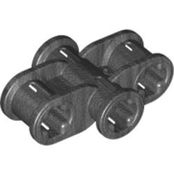 Pearl Dark Gray Technic, Axle Connector 2 x 3 Quadruple - used