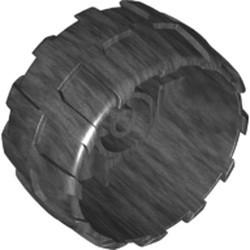 Pearl Dark Gray Wheel Hard Plastic Large (54mm D. x 30mm) - used