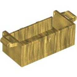 Pearl Gold Container, Treasure Chest Bottom - Slots in Back