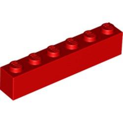 Red Brick 1 x 6 - new