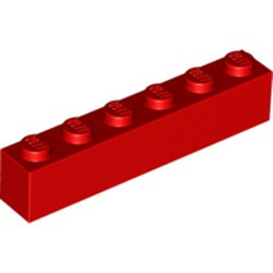 Red Brick 1 x 6 - used