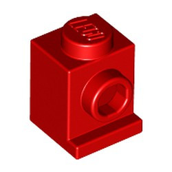 Red Brick, Modified 1 x 1 with Headlight - new