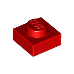 Red Plate 1 x 1 - new