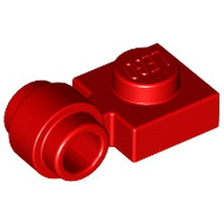 Red Plate, Modified 1 x 1 with Light Attachment - Thick Ring - new