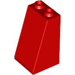 Red Slope 75 2 x 2 x 3 - Hollow Studs