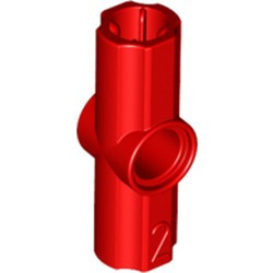 Red Technic, Axle and Pin Connector Angled #2 - 180 degrees - used