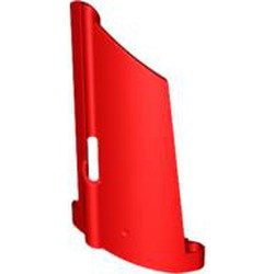 Red Technic, Panel Fairing #20 Large Long, Small Hole, Side A - used