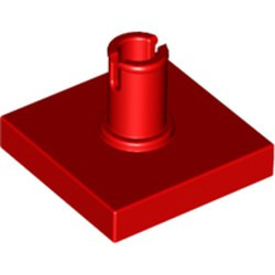 Red Tile, Modified 2 x 2 with Pin - used