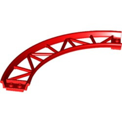 Red Train, Track Roller Coaster Curve, 90 degrees