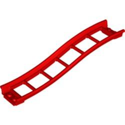 Red Train, Track Roller Coaster Ramp Small, 3 Bricks Elevation