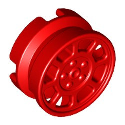 Red Wheel 11mm D. x 6mm with 8 Spokes