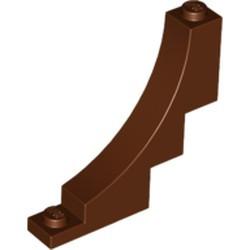 Reddish Brown Brick, Arch 1 x 5 x 4 Inverted - new