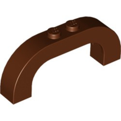 Reddish Brown Brick, Arch 1 x 6 x 2 Curved Top - used