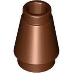 Reddish Brown Cone 1 x 1 with Top Groove - new