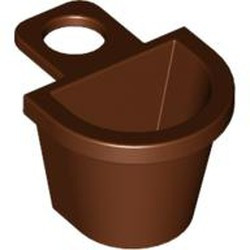 Reddish Brown Minifigure, Container D-Basket - used