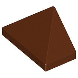 Reddish Brown Slope 45 2 x 1 Triple with Inside Bar - new
