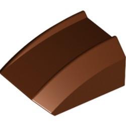 Reddish Brown Slope, Curved 2 x 2 Lip