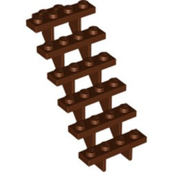 Reddish Brown Stairs 7 x 4 x 6 Straight Open - new