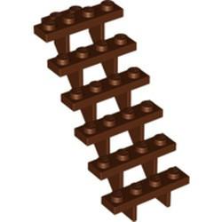 Reddish Brown Stairs 7 x 4 x 6 Straight Open