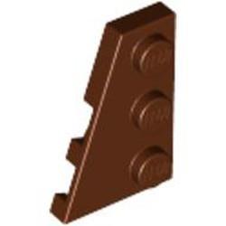 Reddish Brown Wedge, Plate 3 x 2 Left - new