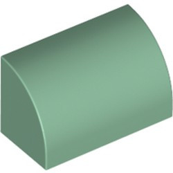 Sand Green Slope, Curved 1 x 2 x 1 - new