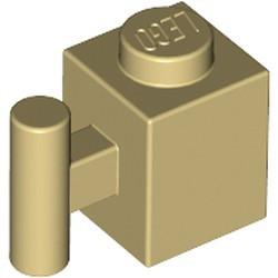 Tan Brick, Modified 1 x 1 with Bar Handle