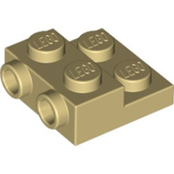 Tan Plate, Modified 2 x 2 x 2/3 with 2 Studs on Side - new