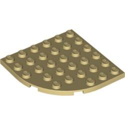 Tan Plate, Round Corner 6 x 6 - used