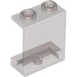 Trans-Black Panel 1 x 2 x 2 - Hollow Studs