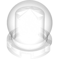 Trans-Clear Minifigure, Utensil Crystal Ball Globe 2 x 2 x 2 - new