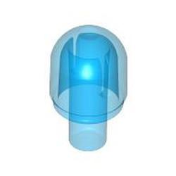 Trans-Dark Blue Bar with Light Cover (Bulb) / Bionicle Barraki Eye - used