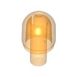 Trans-Orange Bar with Light Cover (Bulb) / Bionicle Barraki Eye - used