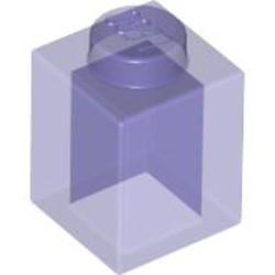 Trans-Purple Brick 1 x 1
