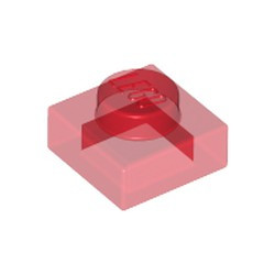Trans-Red Plate 1 x 1 ok- used