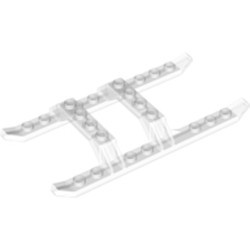 White Helicopter Sled Rails 12 x 6