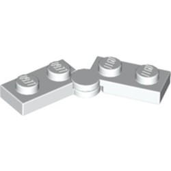 White Hinge Plate 1 x 4 Swivel Base with Same Color Hinge Plate 1 x 4 Swivel Top (2429 / 2430) - new