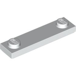 White Plate, Modified 1 x 4 with 2 Studs with Groove