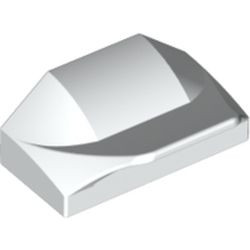 White Slope, Curved 1 x 2 x 2/3 Wing End