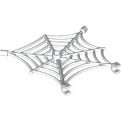 White Spider Web with Clips - used
