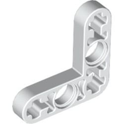 White Technic, Liftarm, Modified Bent Thin L-Shape 3 x 3