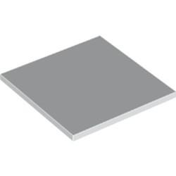 White Tile 6 x 6 with Bottom Tubes