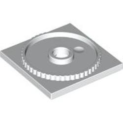 White Turntable 4 x 4 Square Base, Locking