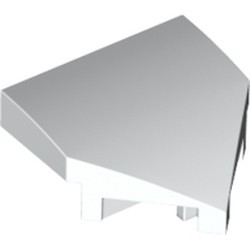 White Wedge 2 x 2 x 2/3 Pointed with Stud Notches