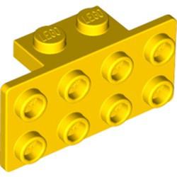 Yellow Bracket 1 x 2 - 2 x 4 - used