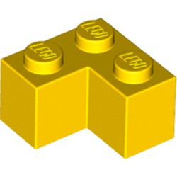 Yellow Brick 2 x 2 Corner - new