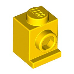 Yellow Brick, Modified 1 x 1 with Headlight - used